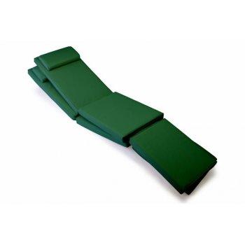Sada 2x polstrování pro lehátko 188 cm - tmavě zelená