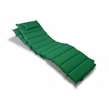Sada 2 kusů polstrování na lehátko Garth - tmavě zelená