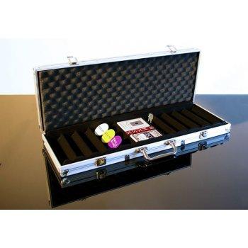 Hliníkový kufr na 500 ks žetonů s příslušenstvím D00493