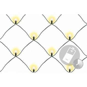 Vánoční osvětlení - LED světelná síť 1,5 x 1,5 m - teple bílá 100 LED
