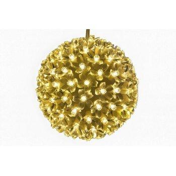 Vánoční dekorace - LED světelná koule - teple bílá D05973