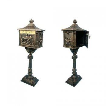 Ozdobná poštovní schránka - bronzová M01325