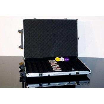 Hliníkový kufr na 1000 ks žetonů s příslušenstvím Trolley D00494