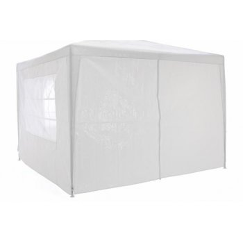 Zahradní párty stan - bílý 3 x 3 m + 4 boční stěny