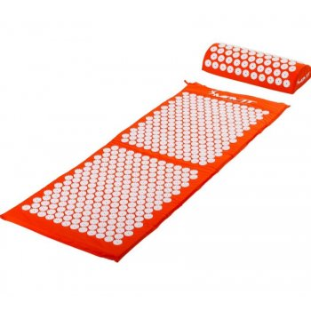 Akupresurní podložka s polštářem MOVIT 130 x 50 cm - oranžová