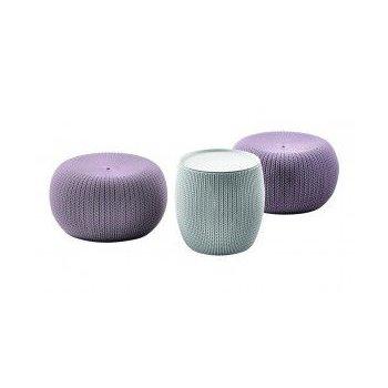 Zahradní set na posezení URBAN (KNIT ) set - fialový+šedý R41243