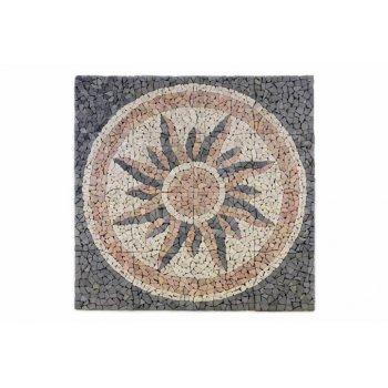 Mramorová mozaika - motiv slunce obklady 120x120 D00765
