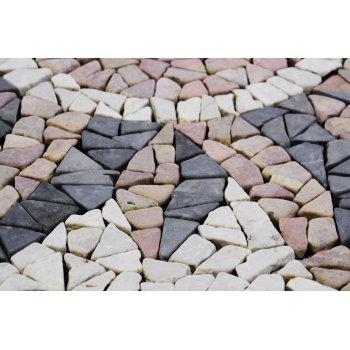 Mramorová mozaika - motiv slunce obklady  1m2