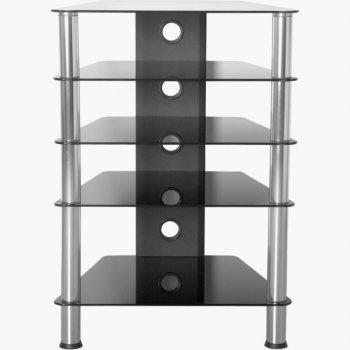 Hifi stolek 88 x 61 x 52 cm bezpečnostní sklo 61 x 88 x 52 cm
