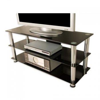 Televizní skleněný stolek NOBLE černý M01281