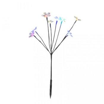 Zahradní LED solární osvětlení - květinový keř S43665