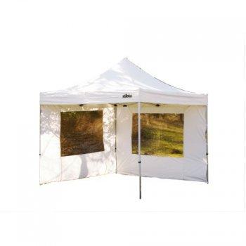 Zahradní párty stan Stilista nůžkový bílý 3x3 m + 2 bočnice M01541