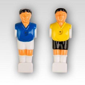Náhradní figurky na fotbálek žlutá modrá 22 ks