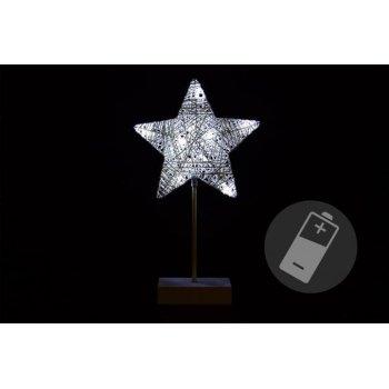 Vánoční dekorace - hvězda - 40 cm 10 LED D33204