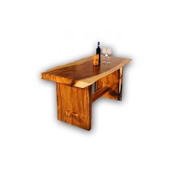 Masivní stůl z mungurového dřeva DIVERO 160 cm