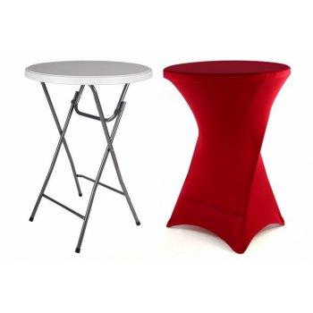 Párty stolek BISTRO skládací vč. elastického potahu 80 x 80 x 110 cm D41003