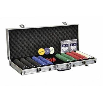 Poker set 500 ks žetonů s příslušenstvím D00500
