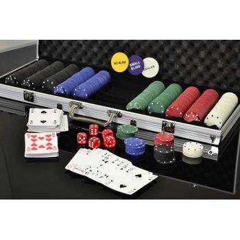 Poker set 500 ks žetonů s příslušenstvím