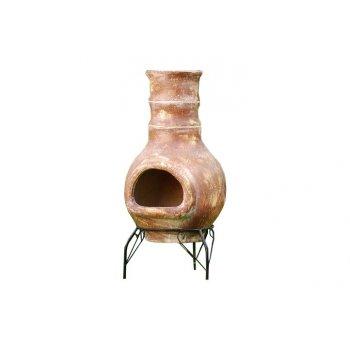 TERA Venkovní zahradní terakotový krb 80 cm D01088