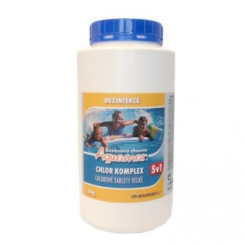 Bazénová chemie AquaMar Komplex 5v1 1,6 kg MA43399