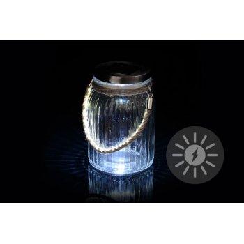 Solární osvětlení - závěsná sklenice D36424