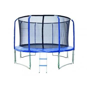 Trampolína 427 cm + vnitřní ochranná síť + žebřík ZDARMA MA43626