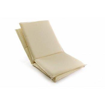 Sada 2 ks polstrování na nízké zahradní židle - krémové D41626