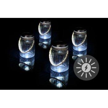 Sada 4 kusů solárního osvětlení - závěsná sklenice