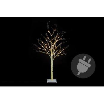 Dekorativní strom bříza 120 cm - 48 LED teplá bílá