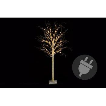 Dekorativní strom bříza 160 cm - 96 LED teplá bílá