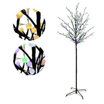 Světelný LED strom 180 cm - 180 LED + 5 funkcí změny barev