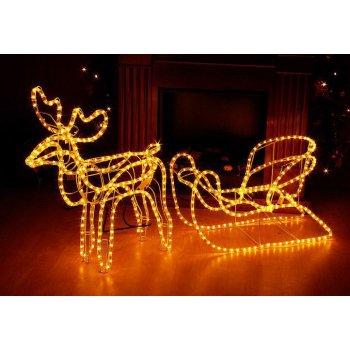 Svítící vánoční sob - světelná dekorace 140cm D01105