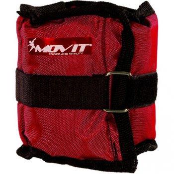 Sada 4 ks kondiční zátěže MOVIT - 2 x 500 g + 2 x 1000 g - červená
