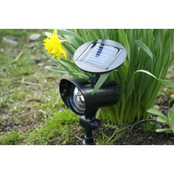 Sada zahradních solárních LED osvětlení - 3ks reflektorů Garth