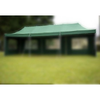 OEM Náhradní střecha na zahradní skládací stan 3 x 9 m zelená D00766