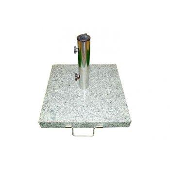 Stojan na slunečník - žula / nerezová ocel, 50 kg D01502