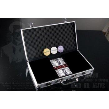 Hliníkový kufr na 300 ks žetonů s příslušenstvím D00492