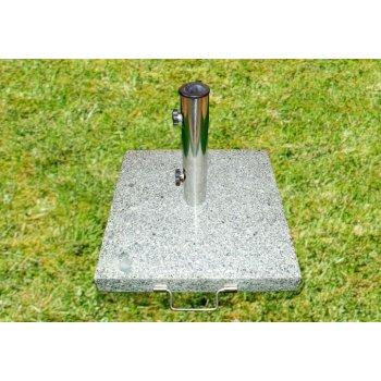 Stojan na slunečník - žula / nerezová ocel, 40 kg D00926
