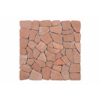 Mramorová mozaika Garth- červená / terakota obklady 1 m2 D00636