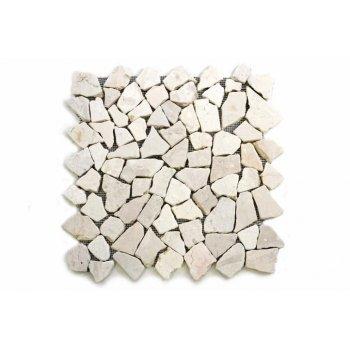 Mramorová mozaika Garth 35 x 35 cm - krémová bílá