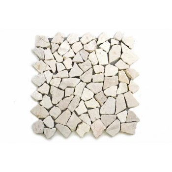 Mramorová mozaika Garth krémová 35 x 35 cm