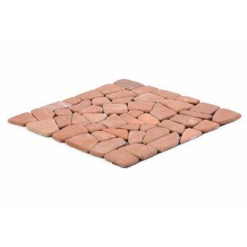 Mramorová mozaika Garth- červená / terakota obklady - 1x síťka