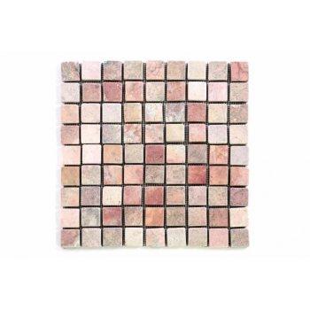 Mramorová mozaika Garth- červená obklady 1ks