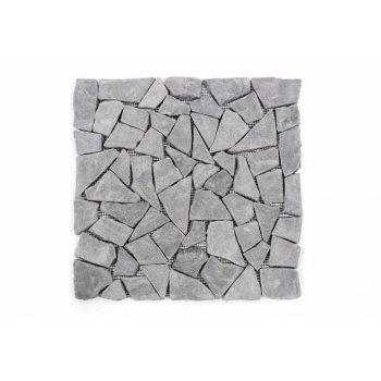 Mramorová mozaika Garth- šedá, obklady 1 m2 D00792