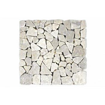 Mramorová mozaika Garth- krémová obklady 1 m2 D01657