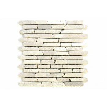 Mramorová mozaika Garth - krémová obklady 1 ks D09587
