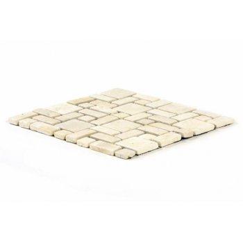 Mramorová mozaika DIVERO krémová obklady 11 ks - 1m²