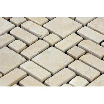 Mramorová mozaika DIVERO krémová obklady 1 ks