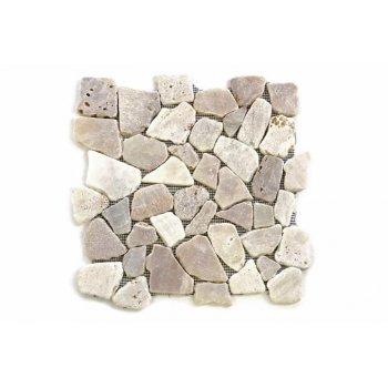 Mozaika říční kámen - krémová obklady 1m2 Garth D00573