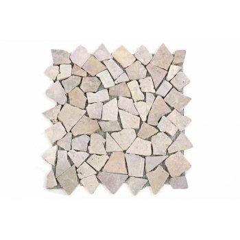Mramorová mozaika DIVERO béžová/růžová 1 ks D09594